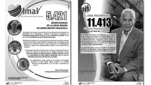 Listas de nuevos pensionados del Ivss y Amor Mayor de abril 2012