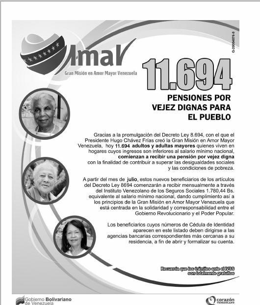Listas de Pensionados Junio 17 de 2012