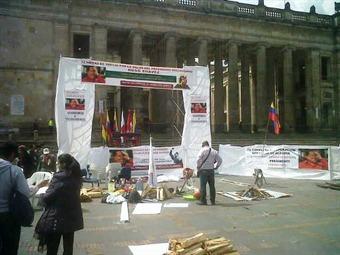 vigilia en Bogotá