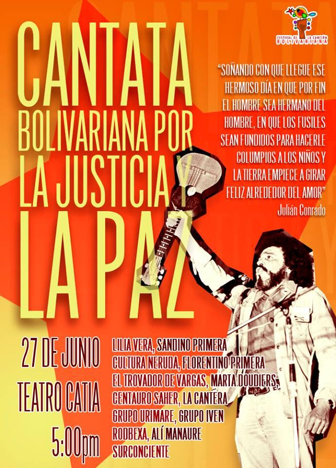 Cantata Bolivariana por la Justicia y la Paz