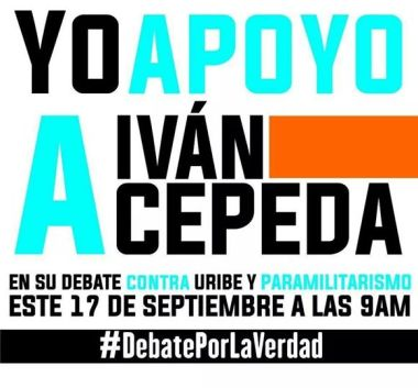 Afiche  debate Cepeda