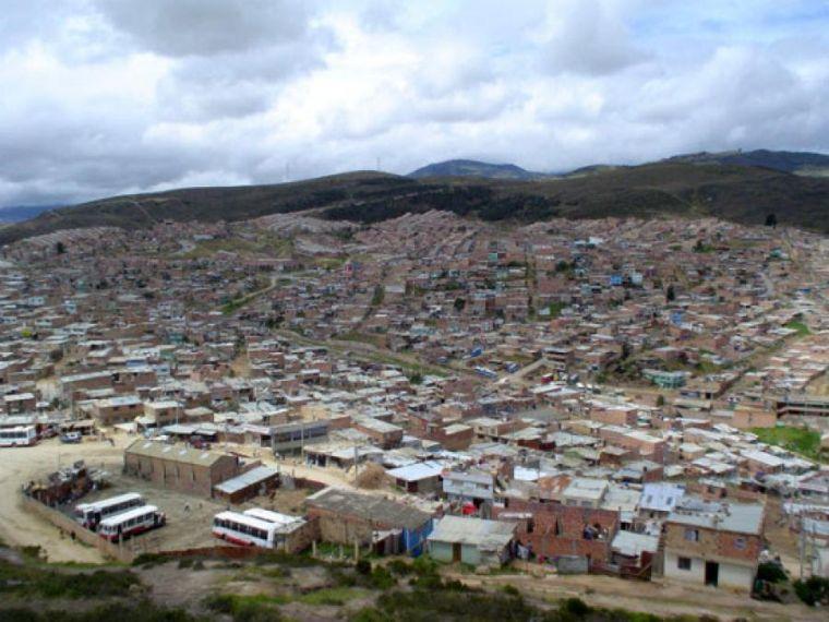 panorámica de la localidad 19 Ciudad Bolívar-sur de Bogotá.